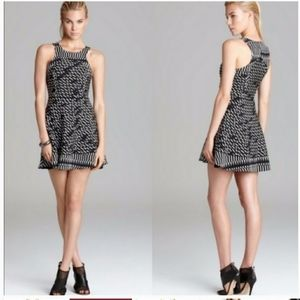 Parker Evony silk mesh mini dress size XS